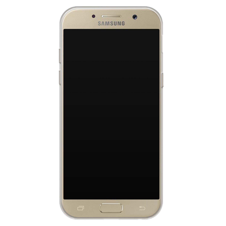 Samsung Galaxy A5 2017 siliconen hoesje - Geometrisch blauw