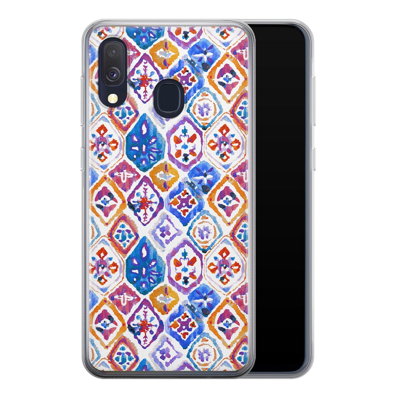 Samsung Galaxy A40 siliconen hoesje - Boho vibe