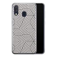 Samsung Galaxy A40 siliconen hoesje - Geometrisch