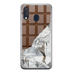 Leuke Telefoonhoesjes Samsung Galaxy A40 siliconen hoesje - Chocoladereep