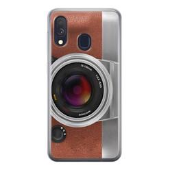 Samsung Galaxy A40 siliconen hoesje - Vintage camera