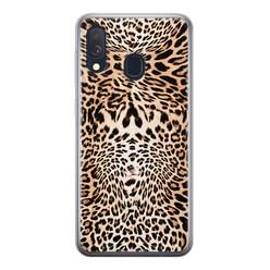 Leuke Telefoonhoesjes Samsung Galaxy A40 siliconen hoesje - Wild animal