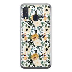 Samsung Galaxy A40 siliconen hoesje - Lovely flower