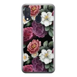 Samsung Galaxy A40 siliconen hoesje - Bloemenliefde