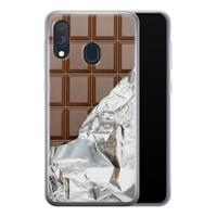 Samsung Galaxy A40 siliconen hoesje - Chocoladereep