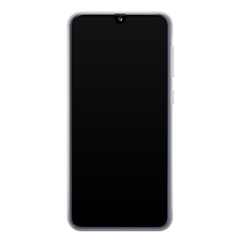 Samsung Galaxy A40 siliconen hoesje - Poezenhoofd