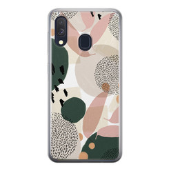 Samsung Galaxy A40 siliconen hoesje - Abstract print