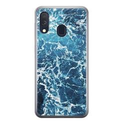 Leuke Telefoonhoesjes Samsung Galaxy A40 siliconen hoesje - Ocean blue