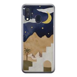 Samsung Galaxy A40 siliconen hoesje - Desert night