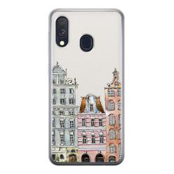Leuke Telefoonhoesjes Samsung Galaxy A40 siliconen hoesje - Grachtenpandjes
