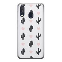 Samsung Galaxy A40 siliconen hoesje - Cactus love