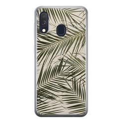 Leuke Telefoonhoesjes Samsung Galaxy A40 siliconen hoesje - Leave me alone
