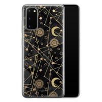 Samsung Galaxy S20 siliconen hoesje - Sun, moon, stars