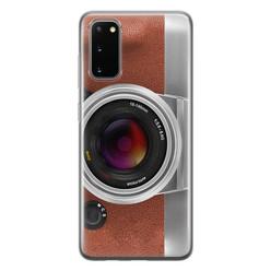 Samsung Galaxy S20 siliconen hoesje - Vintage camera