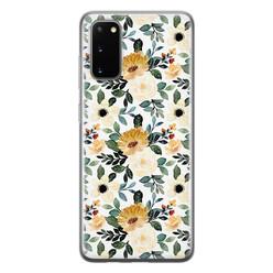 Leuke Telefoonhoesjes Samsung Galaxy S20 siliconen hoesje - Lovely flower