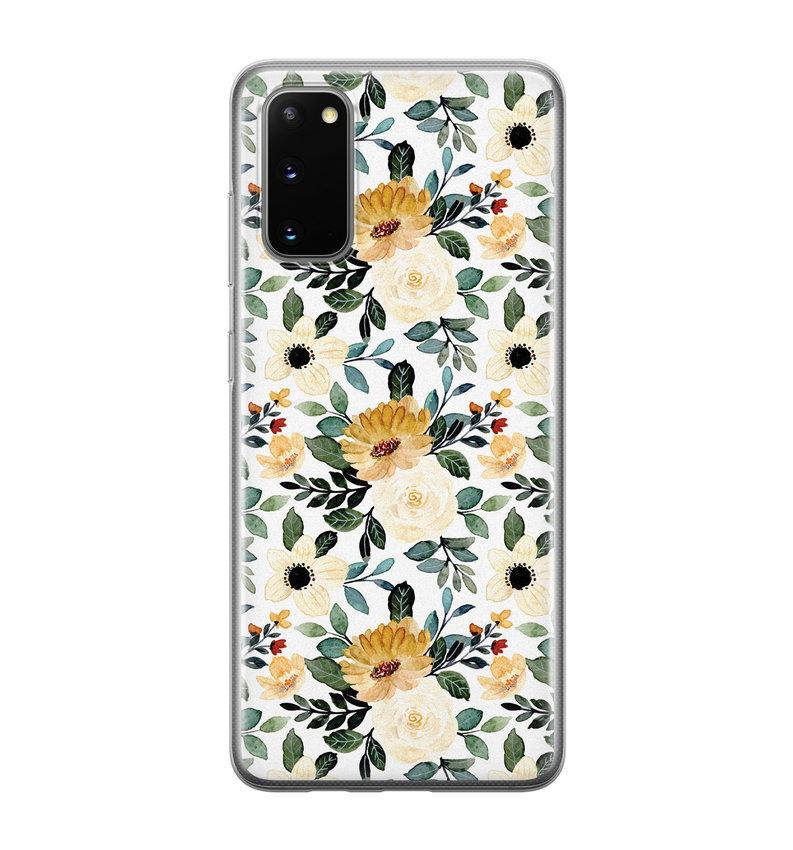 Samsung Galaxy S20 siliconen hoesje - Lovely flower