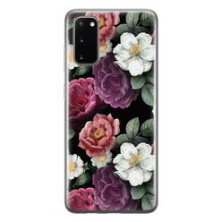 Leuke Telefoonhoesjes Samsung Galaxy S20 siliconen hoesje - Bloemenliefde