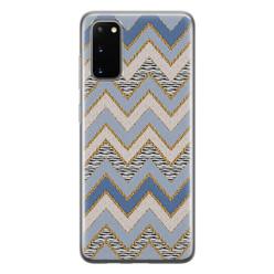 Leuke Telefoonhoesjes Samsung Galaxy S20 siliconen hoesje - Retro zigzag
