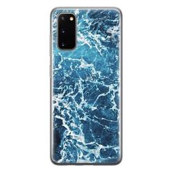Leuke Telefoonhoesjes Samsung Galaxy S20 siliconen hoesje - Ocean blue
