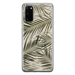Leuke Telefoonhoesjes Samsung Galaxy S20 siliconen hoesje - Leave me alone