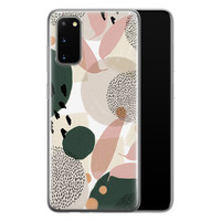 Samsung Galaxy S20 siliconen hoesje - Abstract print