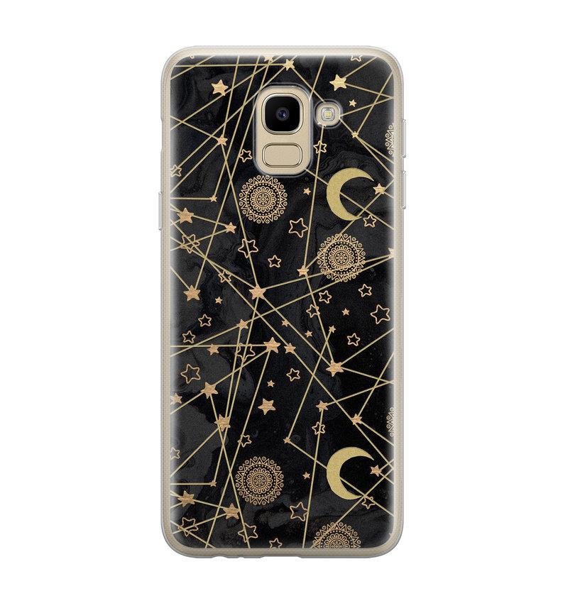 Samsung Galaxy J6 2018 siliconen hoesje - Sun, moon, stars