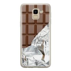 Samsung Galaxy J6 2018 siliconen hoesje - Chocoladereep