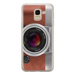 Samsung Galaxy J6 2018 siliconen hoesje - Vintage camera