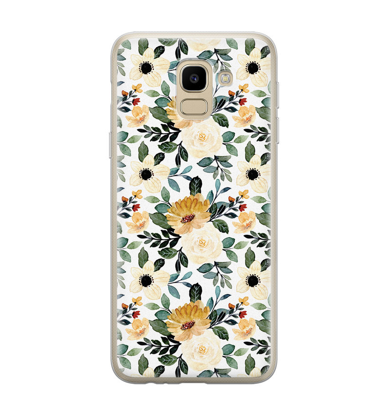 Samsung Galaxy J6 2018 siliconen hoesje - Lovely flower