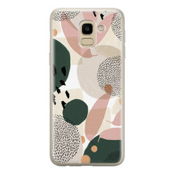 Samsung Galaxy J6 2018 siliconen hoesje - Abstract print