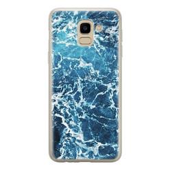 Samsung Galaxy J6 2018 siliconen hoesje - Ocean blue