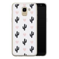 Samsung Galaxy J6 2018 siliconen hoesje - Cactus love