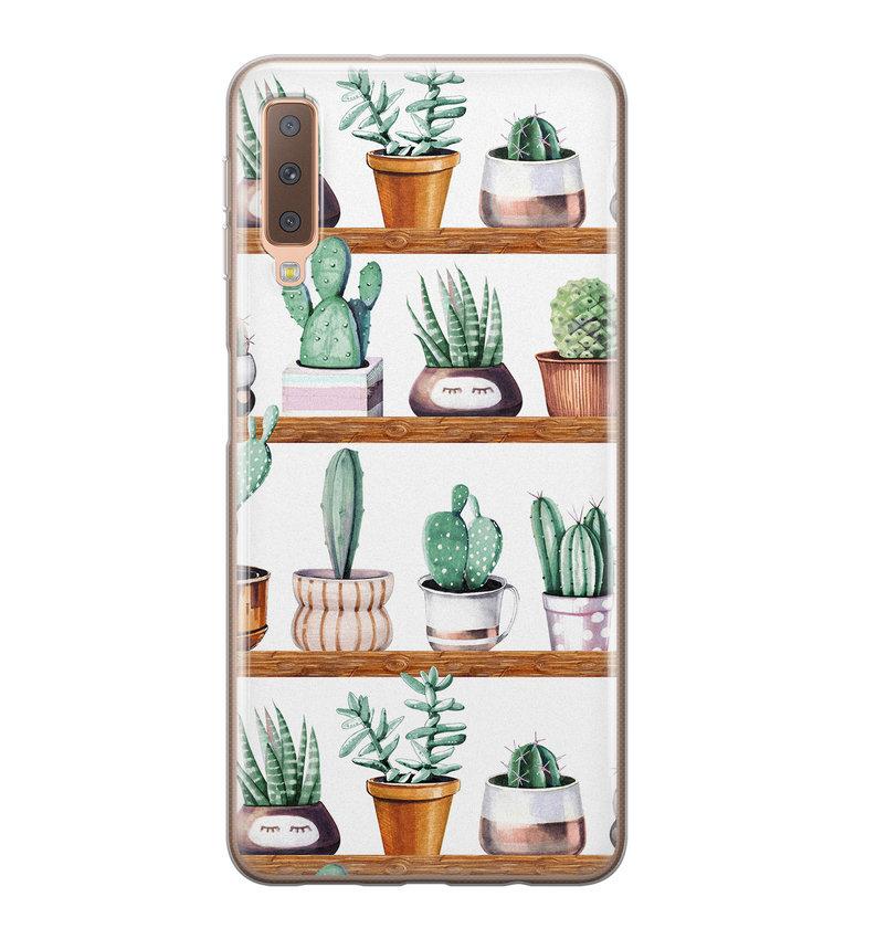 Samsung Galaxy A7 2018 siliconen hoesje - Cactus