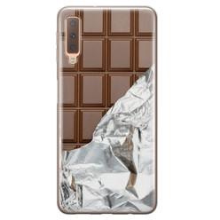Leuke Telefoonhoesjes Samsung Galaxy A7 2018 siliconen hoesje - Chocoladereep