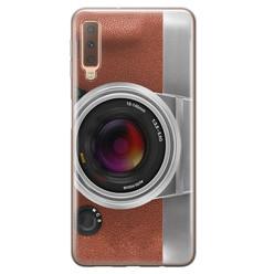 Samsung Galaxy A7 2018 siliconen hoesje - Vintage camera
