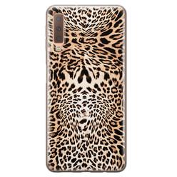 Leuke Telefoonhoesjes Samsung Galaxy A7 2018 siliconen hoesje - Wild animal