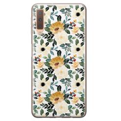 Leuke Telefoonhoesjes Samsung Galaxy A7 2018 siliconen hoesje - Lovely flower