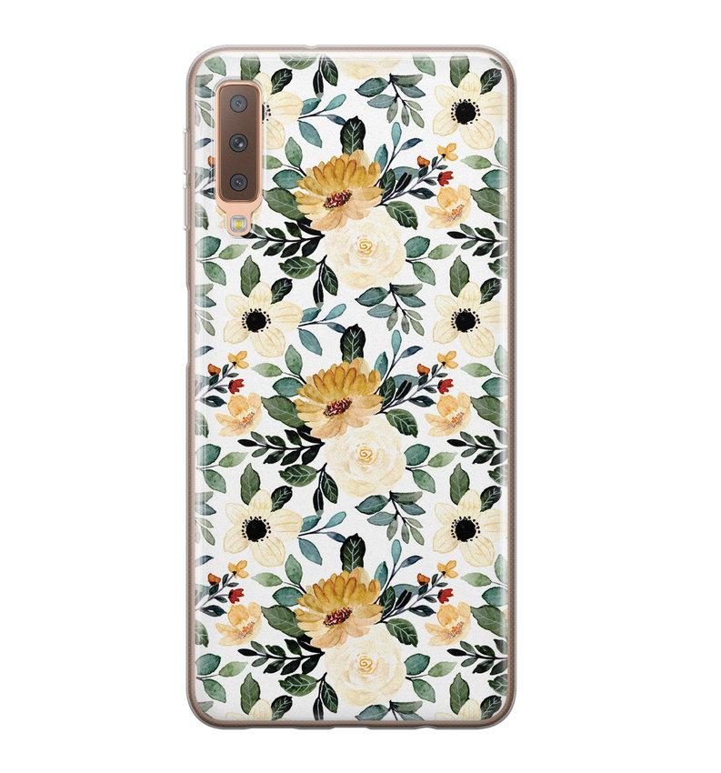 Samsung Galaxy A7 2018 siliconen hoesje - Lovely flower