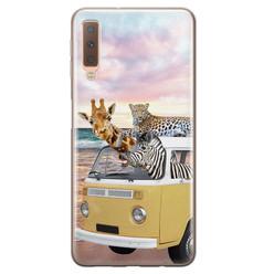 Leuke Telefoonhoesjes Samsung Galaxy A7 2018 siliconen hoesje - Wanderlust