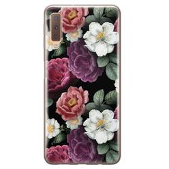 Leuke Telefoonhoesjes Samsung Galaxy A7 2018 siliconen hoesje - Bloemenliefde