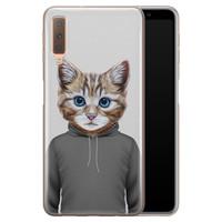 Samsung Galaxy A7 2018 siliconen hoesje - Poezenhoofd