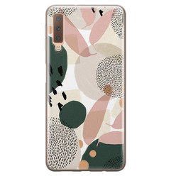 Samsung Galaxy A7 2018 siliconen hoesje - Abstract print
