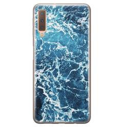 Leuke Telefoonhoesjes Samsung Galaxy A7 2018 siliconen hoesje - Ocean blue