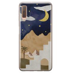 Leuke Telefoonhoesjes Samsung Galaxy A7 2018 siliconen hoesje - Desert night