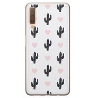 Samsung Galaxy A7 2018 siliconen hoesje - Cactus love