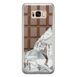 Leuke Telefoonhoesjes Samsung Galaxy S8 siliconen hoesje - Chocoladereep