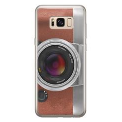 Leuke Telefoonhoesjes Samsung Galaxy S8 siliconen hoesje - Vintage camera