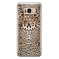 Leuke Telefoonhoesjes Samsung Galaxy S8 siliconen hoesje - Wild animal