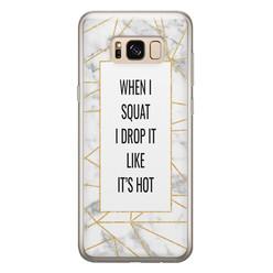 Leuke Telefoonhoesjes Samsung Galaxy S8 siliconen hoesje - Dropping squats