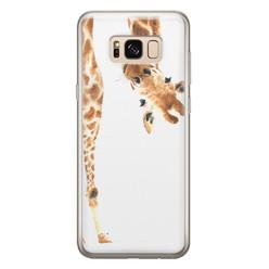 Samsung Galaxy S8 siliconen hoesje - Giraffe peekaboo